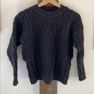 Vintage Wool & Silk Cable Knit Short Sweater